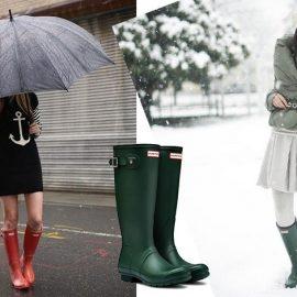 Φορέστε τις γαλότσες ακόμη και με μίνι // Οι διάσημες πράσινες γαλότσες (Original Green), αυτές που μεγάλωσαν γενιές και γενιές γαλαζοαίματων και μη Βρετανών, κατασκευάστηκαν για πρώτη φορά τον χειμώνα του 1955