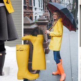 Συνδυάστε το γκρι με φωτεινό κίτρινο ή πορτοκαλί και δώστε μία πινελιά έντονου χρώματος στην εμφάνισή σας. Το αδιάβροχο σε κίτρινο… προαιρετικό