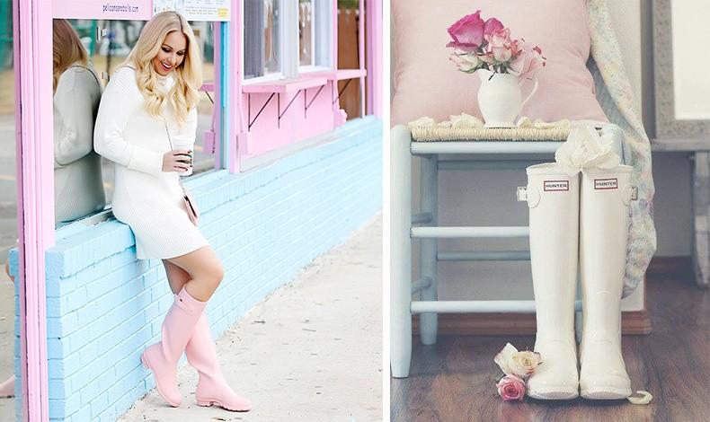 Παστέλ ροζ και λευκό! Όταν οι γαλότσες μας γίνονται δείγμα θηλυκότητας!