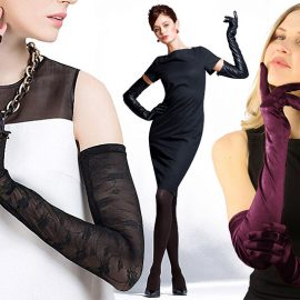Τα μακριά γάντια φέρνουν αέρα άλλης εποχής και συνοδεύουν τέλεια τα αμάνικα φορέματά μας από το… πρωί! Αν διαλέξετε βελούδο ή δαντέλα κρατήστε τα αποκλειστικά για το βράδυ!