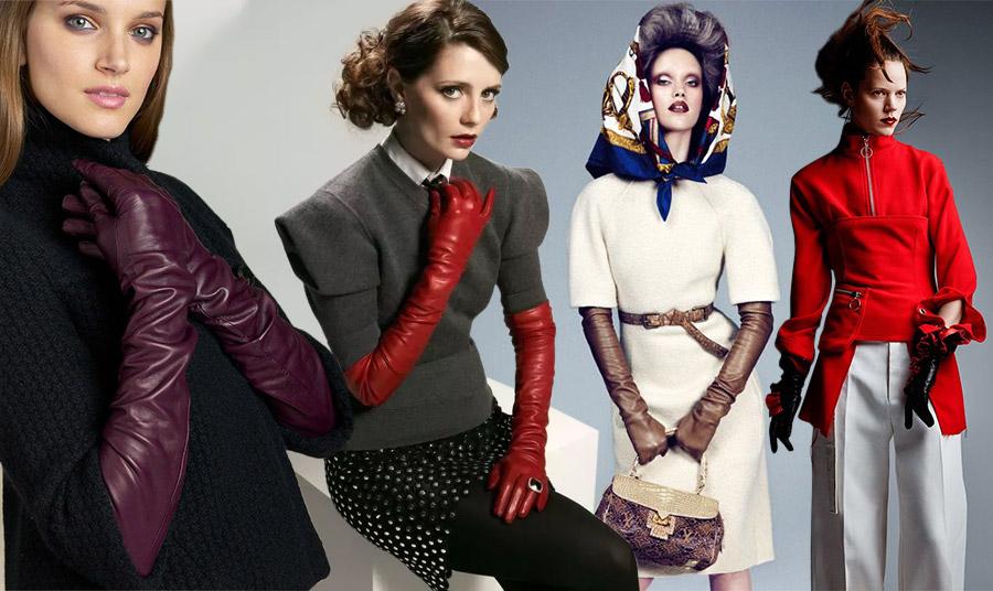 Φορέστε μακριά γάντια και μάλιστα από δέρμα από το πρωί για πολύ εντυπωσιακή εμφάνιση! Μην διστάσετε να τα διαλέξετε με χρώμα, όπως μπορντό, κόκκινο ή καφέ. Συνδυάστε τα με ένα πλεκτό ζιβάγκο και παντελόνι, με μία φούστα και λευκό πουκάμισο με πουλοβεράκι σε ένα preppy look ή πάλι με ένα κοντομάνικο φόρεμα