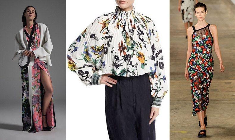 Ιδιαίτερη εκδοχή που θυμίζει ιαπωνικό μοτίβο, Diane von Furstenberg // Πλισέ λουλουδάτη μπλούζα, Τibi // Φλοράλ φόρεμα, Hugo Boss