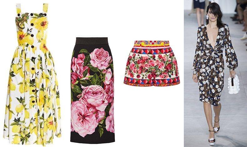 Φόρεμα, φούστα και σορτσάκι από τη συλλογή άνοιξη-καλοκαίρι 2017 Dolce& Gabbana // Aπό τη συλλογή άνοιξη-καλοκαίρι 2017 Μichael Kors