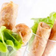 Γαρίδες με φύλλο & γλυκόξινη σάλτσα