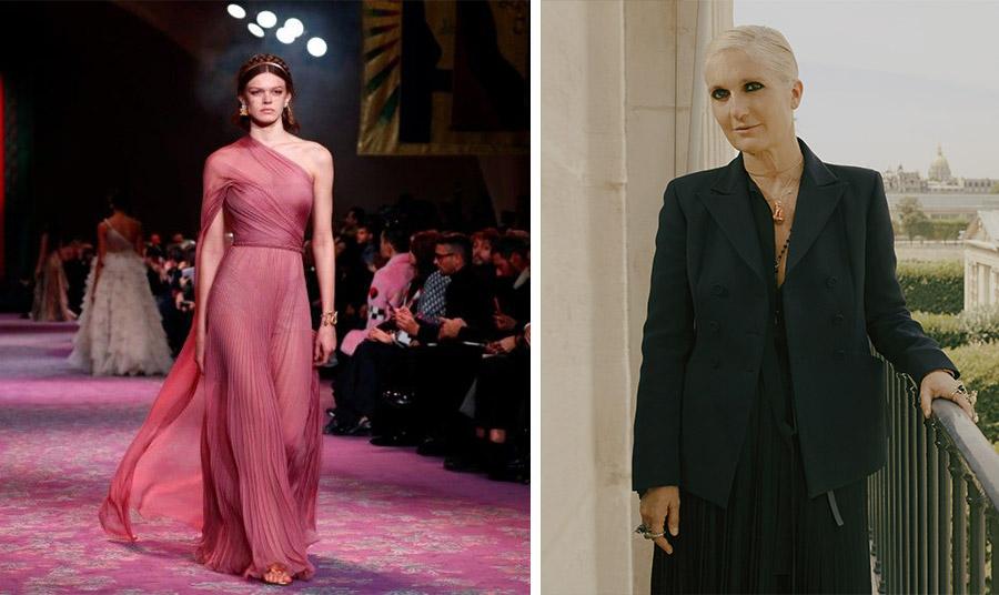 Ένα ακόμη φόρεμα από τη συλλογή άνοιξη-καλοκαίρι 2020 Dior // H Maria Grazia Chiuri καλλιτεχνική διευθύντρια του οίκου Dior προσπαθεί να ενισχύσει το γυναικείο κίνημα