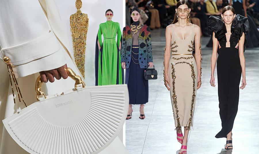 Από την επίδειξη μόδας του οίκου Schiaparelli για την άνοιξη-καλοκαίρι 2020