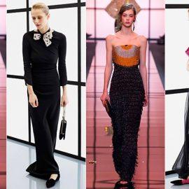 «Ένα μακρύ φόρεμα με ίσια παπούτσια χαρίζει ένα άνετο, ρευστό περπάτημα και σε συνδυασμό με μία μικρή, σοφιστικέ τσάντα αποτελεί ένα ξεχωριστό look», λέει ο Αρμάνι
