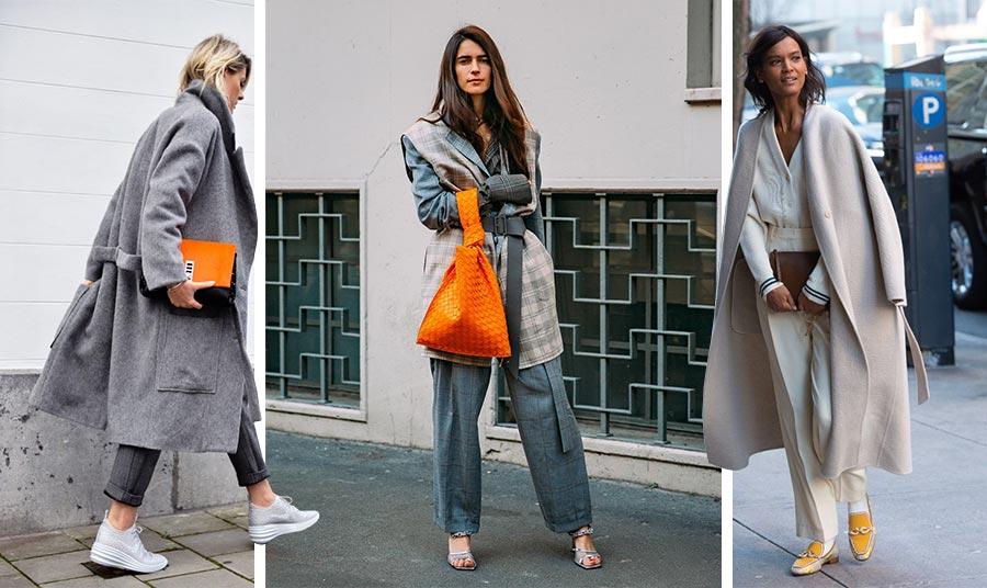 Μπορείτε να «σπάσετε» τη μονοχρωμία του γκρι με ένα πολύ δυνατό αξεσουάρ, π.χ. μία τσάντα ή παπούτσια σε έντονο φωτεινό χρώμα και να κάνετε τη διάφορά