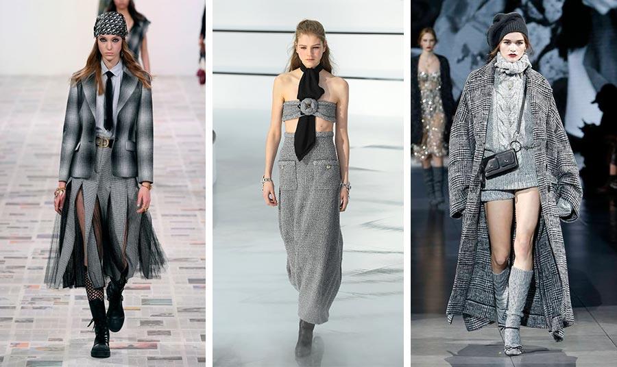 Η επιτομή της κομψότητας σε αποχρώσεις του γκρι, Dior // Σέξι θηλυκότητα και γοητεία, Chanel // Μακριά παλτό, χοντρά πλεκτά και ιταλική αύρα, Dolce&Gabbana