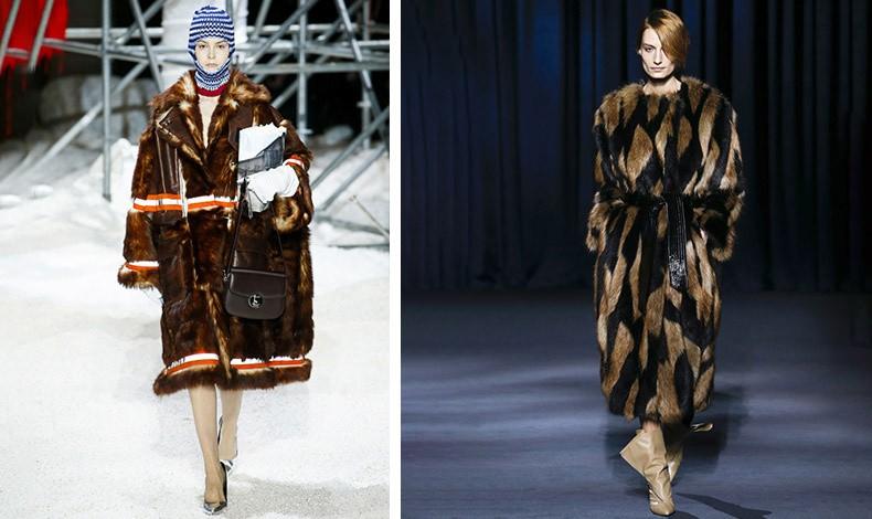 Από την πασαρέλα χειμώνας 2019 του Calvin Klein που είναι από τους πρώτους οίκους που κατήργησαν τις αληθινές γούνες // Ο οίκος Givenchy παρουσίασε μοναδικές ψεύτικες γούνες που έκλεψαν τις εντυπώσεις