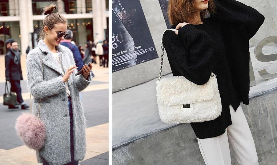Η γούνινη τσάντα δίνει το δικό της στίγμα στο στιλ σας