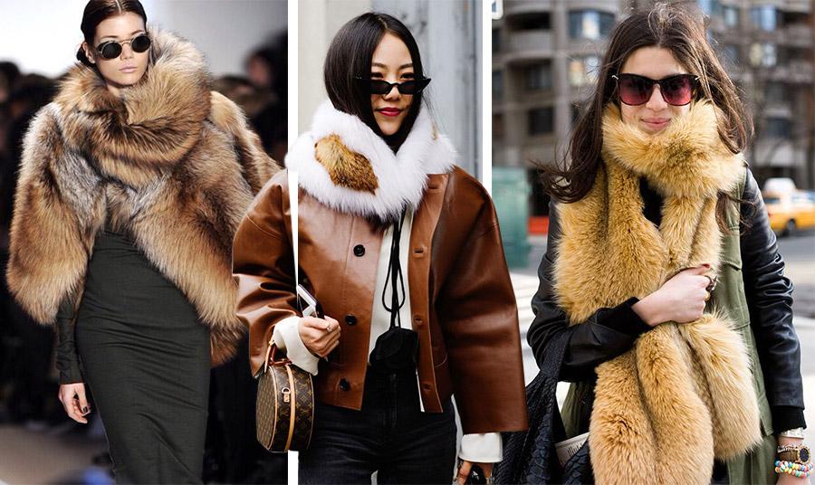 Αν δεν θέλετε ολόκληρο πανωφόρι, μπορείτε να διαλέξετε έναν γούνινο γιακά κοντό ή μακρύ. Η πολυτέλειά του θα αναβαθμίσει το στιλ σας στη στιγμή!