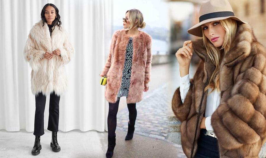 Διαλέξτε ένα κοντό πανωφόρι από ψεύτικη γούνα. Τέλειο με ένα μαύρο παντελόνι ή με ένα ανάλογου μήκους φόρεμα