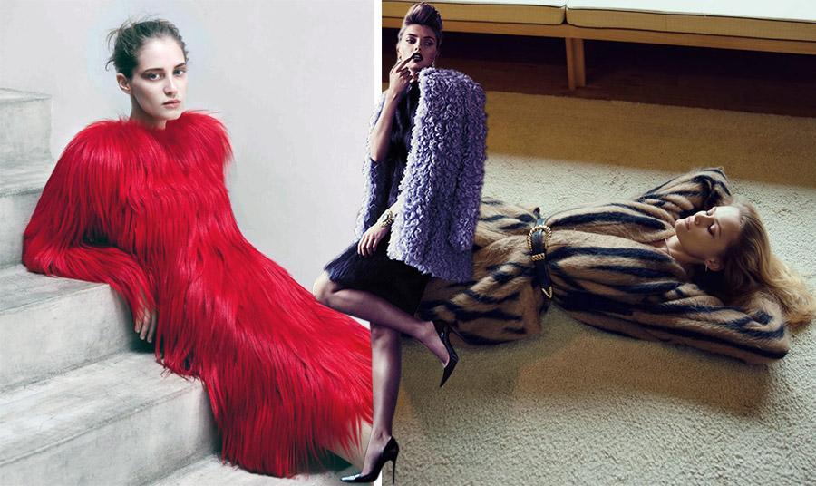 Ένα κόκκινο φόρεμα από γούνα αποκλείεται να περάσει απαρατήρητο! // Σε μοβ χρώμα και μπουκλέ για βράδυ // Μία ιδιαίτερη γούνα δεμένη με ζώνη τονίζει τη θηλυκότητά σας