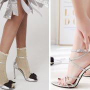 Τα πέδιλα φοριούνται και με λαμπερά καλτσάκια και μίνι φούστα για πιο ανατρέπτικη εμφάνιση // Φορέστε τα λαμπερά πέδιλά σας χωρίς κάλτσες αλλά με άψογο πεντικιούρ!