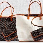 Η St Louis, η διασημότερη ίσως τσάντα της Goyard, κυκλοφορεί σε τρία μεγέθη (Junior, PM, GM) και σε μια ποικιλία χρωμάτων, για να ταιριάζει με κάθε ρούχο