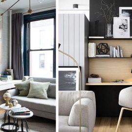 Τα υφάσματα για το κάθισμα του γραφείου καλό είναι να αλληλοσυμπληρώνεται με τις στόφες του καναπέ // Το γραφείο και τα διακοσμητικά του είναι ωραίο να ταιριάζουν με την αισθητική του χώρου