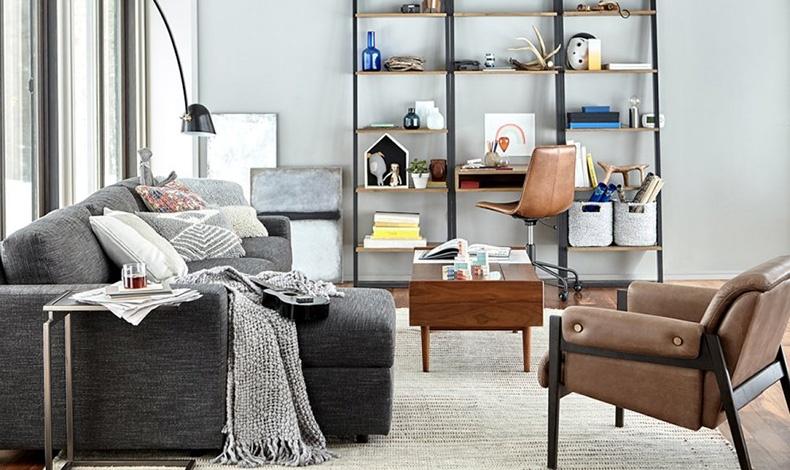 Προτιμήστε ένα χαλί αρκετά μεγάλο για να καλύπτει καθιστικό και γραφείο.