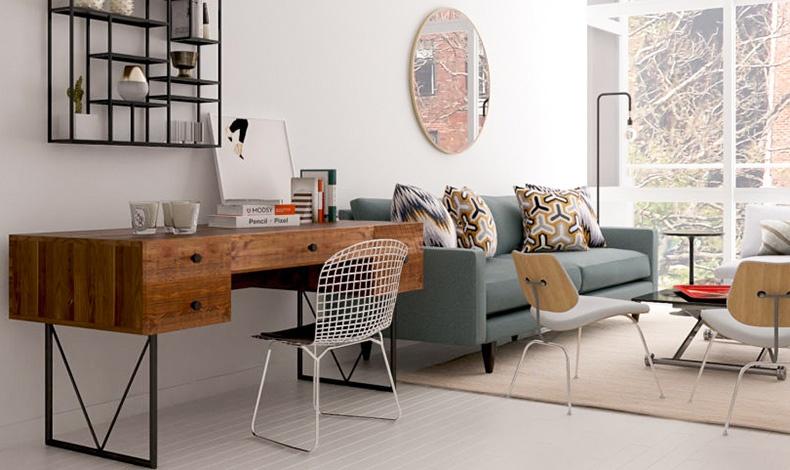Αναζητήστε για έπιπλο-γραφείο κάτι που μπορεί να χρησιμεύσει ως μπουφές ή και σαν βοηθητικό τραπέζι. Για κάθισμα, διαλέξτε μία άνετη πολυθρόνα που μπορεί να γίνει ένα έξτρα κάθισμα για τους επισκέπτες σας