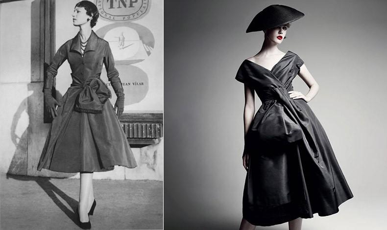 """Ο όρος """"γραμμή Α"""" χρησιμοποιήθηκε για πρώτη φορά από τον διάσημο μετρ Christian Dior // Η σημερινή εκδοχή του φορέματος του 1955"""