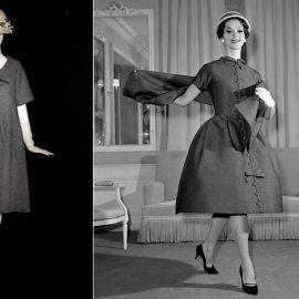 """Ο Yves Saint Laurent, μετά τον ξαφνικό θάνατο του Christian Dior το 1957, ανέλαβε τα καθήκοντα του καλλιτεχνικού διευθυντή του οίκου και ήταν αυτός που σχεδίασε το φόρεμα σε γραμμή """"Α"""" όπως το ξέρουμε σήμερα"""