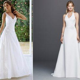 """Το φόρεμα σε γραμμή """"Α"""" μπορεί να φορεθεί και ως νυφικό, και μάλιστα αποτελεί μία από τις ιδανικότερες επιλογές!"""