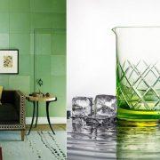Συνδυάστε το πράσινο στους τοίχους του σπιτιού σας και φέρτε την άνοιξη σπίτι σας // Ποτήρια εμπνευσμένα από το Greenery, Μartin Jakobsen