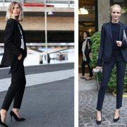 Ένα κοστούμι σε μαύρο χρώμα είναι κλασική επιλογή και μπορεί να φορεθεί από το γραφείο μέχρι το βράδυ, ανάλογα με το τοπ και τα αξεσουάρ που θα το συνοδεύουν