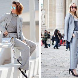 Το γκρι είναι μία κλασική αλλά ταυτόχρονα και ενδιαφέρουσα επιλογή. Φορέστε ένα γκρι κοστούμι με ζιβάγκο και oxford παπούτσια ή πάλι με μία ανάλαφρη θηλυκή μπλούζα και ψηλά τακούνια. Κομψή εμφάνιση για όλες τις ώρες