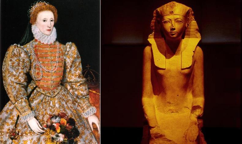 Η βασίλισσα Ελισάβετ Α΄ ντυνόταν με υπερβολή για να επιβάλλεται στους εχθρούς της  // Η βασίλισσα Χατσεπσούτ  υιοθέτησε το ανδρικό ντύσιμο χιλιάδες χρόνια πριν στην Αίγυπτο!