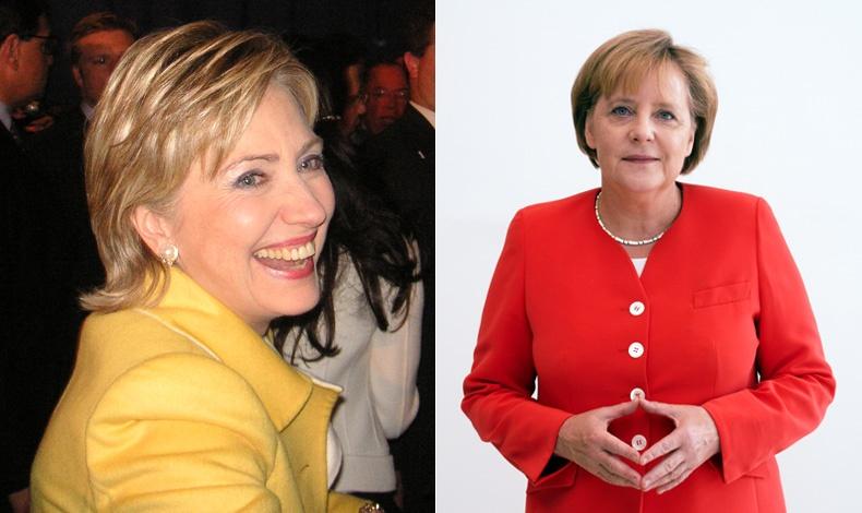 Η Χίλαρι Κλίντον προσάρμοσε το ανδρόγυνο στιλ στη θηλυκότητα // Τα πολύχρωμα και κακόγουστα κοστούμια της Άνγκελα Μέρκελ υποδηλώνουν ταυτόχρονα συνέπεια και ορθολογισμό