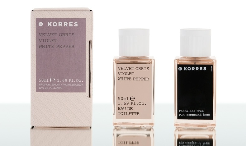 Θηλυκό άρωμα γλυκών ανθών με ανατολίτικες νύξεις, Velvet Oris Violet White Pepper, Korres