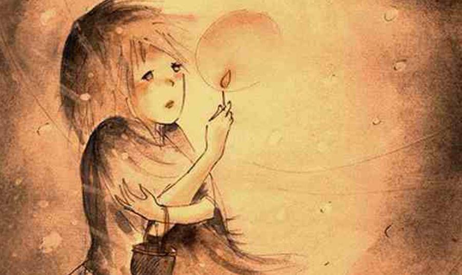 Σκίτσο για το «Κοριτσάκι με τα σπίρτα»