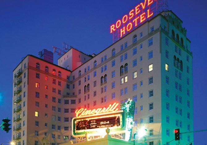 Το Hollywood Roosevelt τη νύχτα