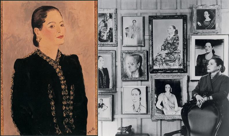 Πορτρέτο του Baron Kurt Ferdinand von Pantz, περίπου το 1944 // Ποζάροντας με φόντο διάφορα πορτρέτα της