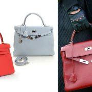 Η διάσημη τσάντα σε ζωηρό κόκκινο ή στο χρώμα του πάγου // «Kelly Retourne» με μαλακό σχήμα για πιο casual chic εμφανίσεις. (Φωτό: Dependsonyourtaste.com)