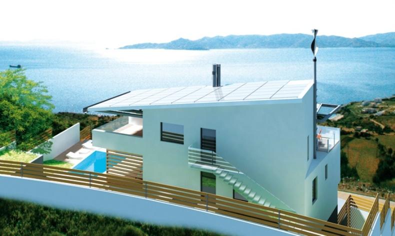 Μία ακόμη εκδοχή ενεργειακού σπιτιού στην Κάρυστο