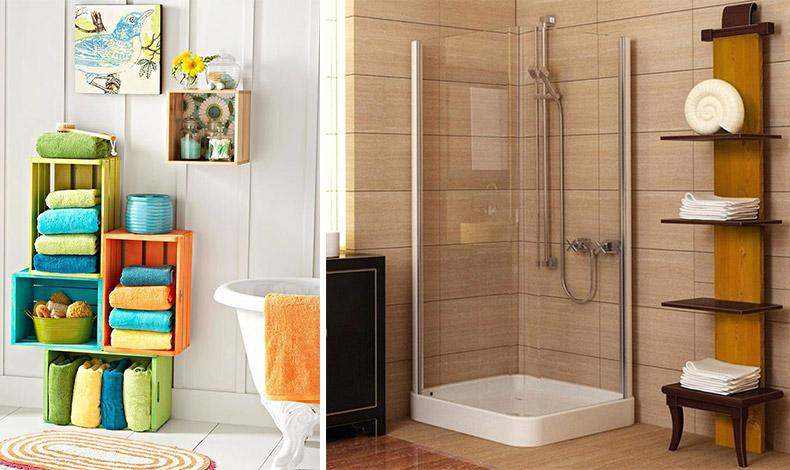 Δημιουργήστε ένα έπιπλο μπάνιου με χρωματιστά ξύλινα καφάσια και συνδυάστε τα χρώματα τους με τα χρώματα των πετσετών σας // Ένα μικρό αλλά κομψό έπιπλο μπορεί να δώσει τη λύση στην τακτοποίηση για τις πετσέτες σας