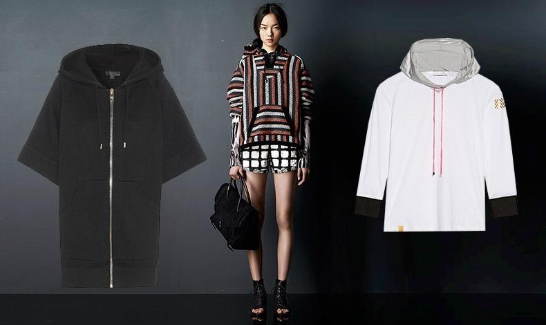 Με σορτς ή μίνι φούστα! Μακρύ μαύρο με φερμουάρ, Burberry Prorsum // Με γεωμετρικά patterns, Proenza Schouler // Αθλητικό λουκ, Monreal London