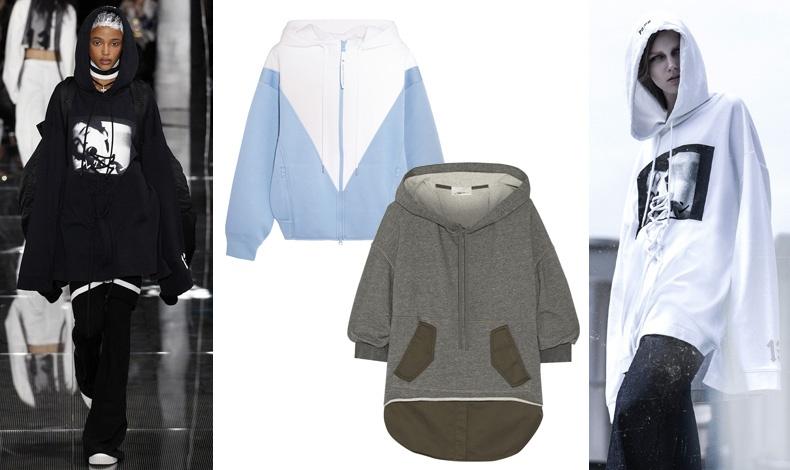 Από την πασαρέλα Fenty Puma by Rihanna // Συνδυασμός γαλάζιου και λευκού, Adidas by Stella McCartney // Γκρι-λαδί, 3.1 Phillip Lim // Από editorial του Buro24/7
