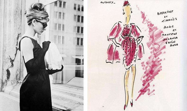 Η φιλία του Givenchy με την Όντρεϊ Χέπμπορν ήταν προσωπική και επαγγελματική. Δημιούργησε την γκαρνταρόμπα της για το θρυλικό