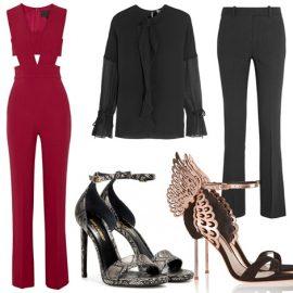 Το φόρεμα δεν είναι η μόνη λύση. Σε αυτή την περίπτωση, ένα εντυπωσιακό ζευγάρι παπούτσια θα σας χρίσει βασίλισσα του στιλ! // Μαύρη φόρμα, Haider Ackermann // Κόκκινη φόρμα, Cushnie et Ochs // Πουκάμισο και παντελόνι, 3.1. Phillip Lim // Κροκό peep toes, Saint Laurent // Σουέντ πέδιλα με ροζ χρυσές λεπτομέρειες, Sophia Webster // Φόρμα με μπλε πουά, Diane Von Furstenberg