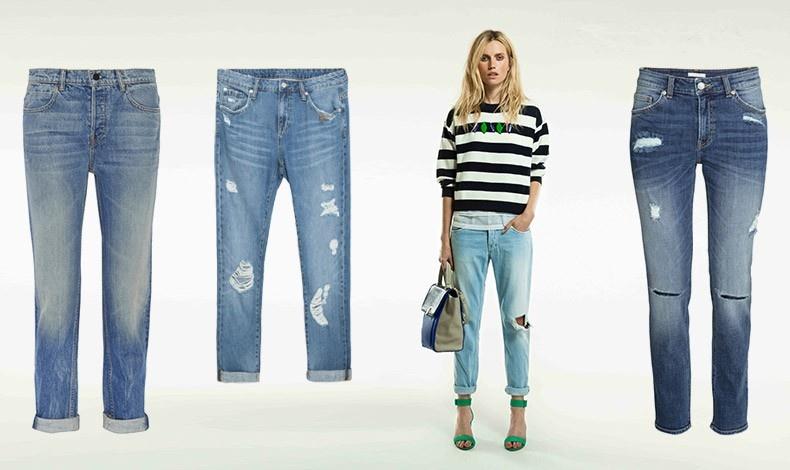 Αθλητική: Με ρεβέρ, Alexander Wang // Κοντό, Zara // Με vintage look και μαζεμένο τελείωμα, από την Pepe Jeans // Με σκισίματα, H&M