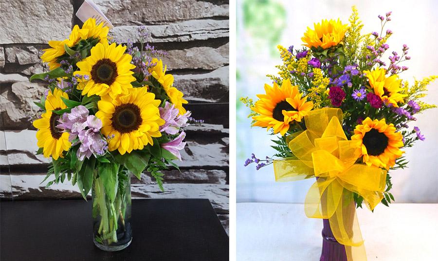 Βάζα που εντυπωσιάζουν! Συνθέσεις με μοβ λουλούδια κάθε είδους, από κρινάκια μέχρι χρυσάνθεμα ακόμη και τριαντάφυλλα είναι απλά η καλύτερη επιλογή