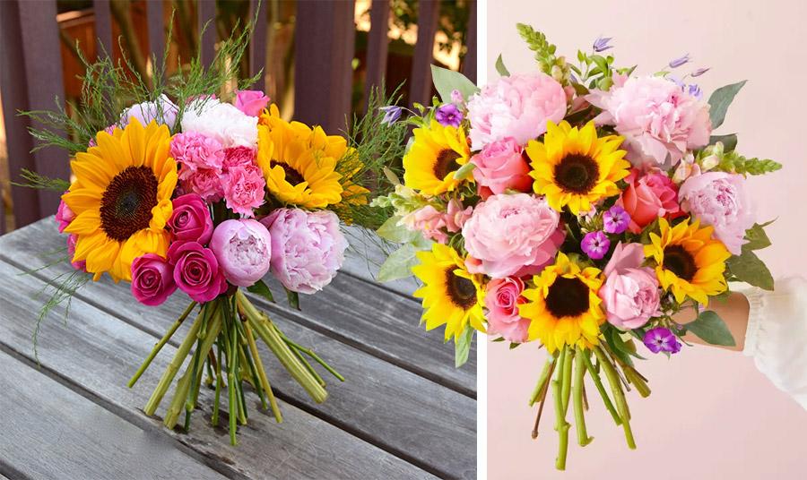 Μήπως είστε ρομαντική ψυχή; Μία σύνθεση με ροζ παιώνιες και ροζ ή φούξια τριαντάφυλλα είναι η επιλογή σας!
