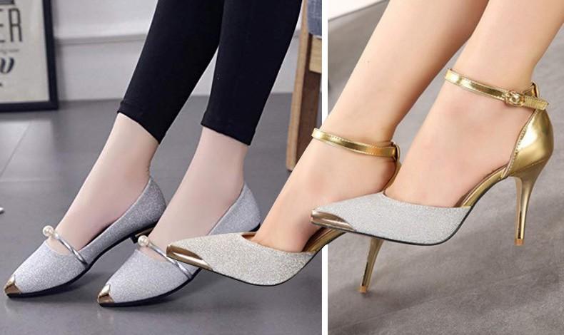 Ένα ακόμη τρικ είναι τα μυτερά παπούτσια είτε είναι ίσια είτε με τακούνια