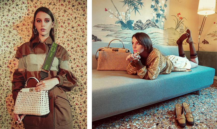 """Η """"Peekaboo"""" είναι μία ευρύχωρη τσάντα που ταιριάζει με όλα τα στιλ ντυσίματος και το γούστο κάθε γυναίκας λέει η Iris Law"""