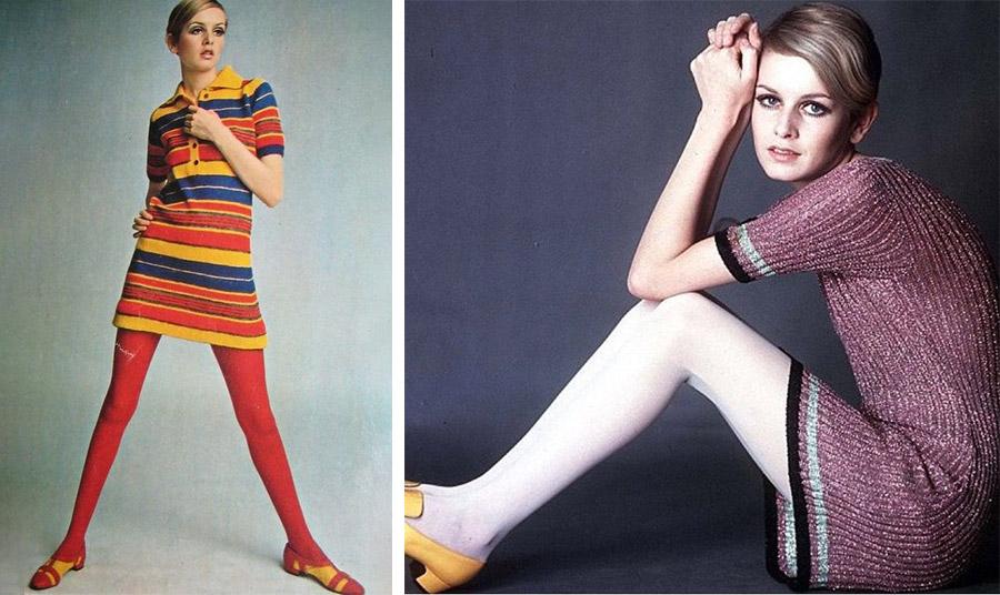 Η Τούιγκι με έντονο κόκκινο καλσόν ή λευκό και φυσικά μίνι φόρεμα  αποτέλεσε μοντέλο-σύμβολο της εποχής των Mods. Το νέο αξεσουάρ είχε γίνει μέρος της προσωπικότητάς τους