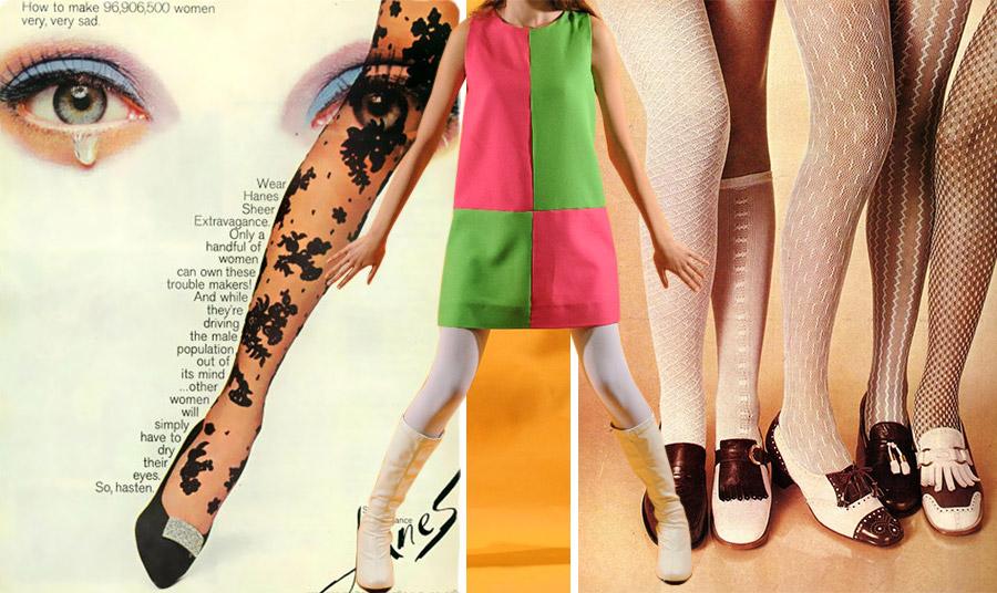 Διαφήσιμη της Hanes το 1965 // Εκδοχές από φωτογραφήσεις μόδας με καλσόν της δεκαετίας του '60, όταν οι γυναίκες υιοθέτησαν το μίνι και μαζί ένας νέος κοινωνικός αέρας άρχισε να φυσά!