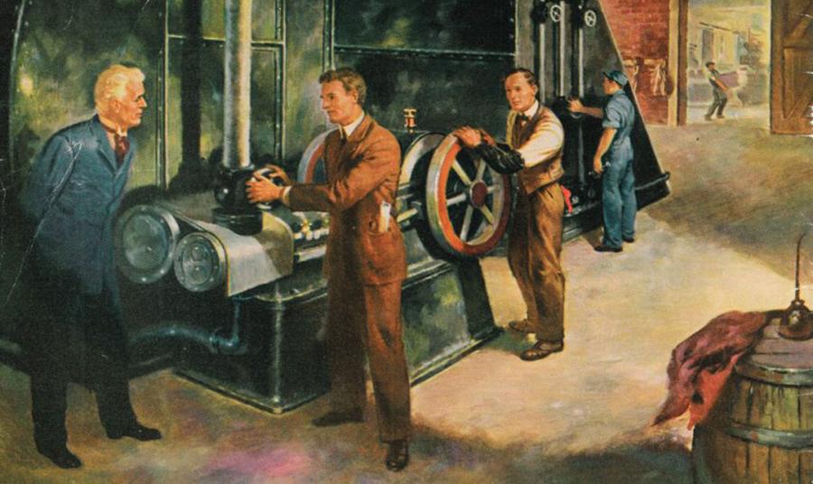 Ο 25χρονος μηχανικός, ο Γουίλις Κάριερ, δημιούργησε ένα πρωτόγονο σύστημα ψύξης για τη μείωση της υγρασίας γύρω από τον εκτυπωτή χρησιμοποιώντας έναν βιομηχανικό ανεμιστήρα που έστελνε αέρα πάνω σε πηνία ατμού γεμάτα με κρύο νερό το 1902